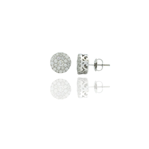 White Gold Icy Bling Round Diamond Earrings  (14K)