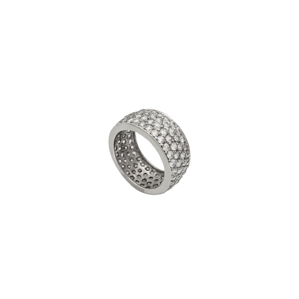 Four-Row Eternity Ring (Silver)