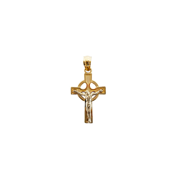 Two-tone Cross Pendant (14K)