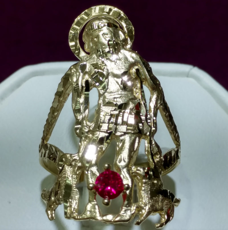 Saint Lazarus Ring 10K - Popular Jewelry
