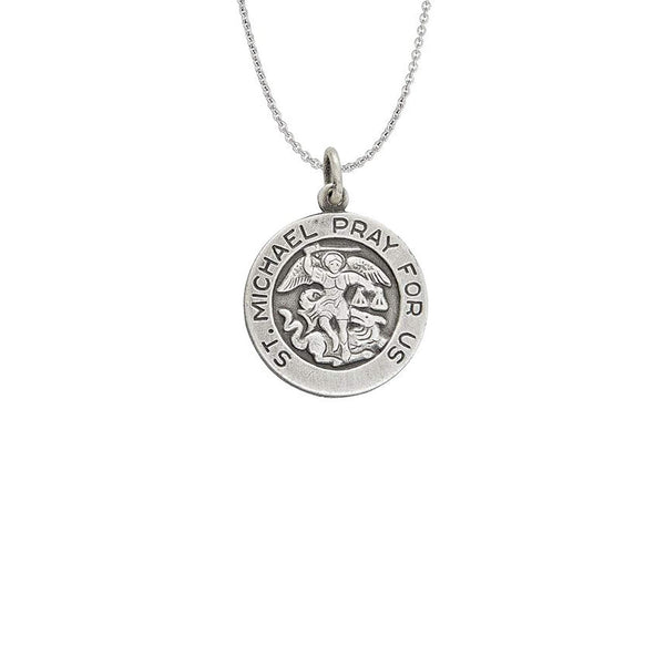 Saint Michael Necklace (Silver)