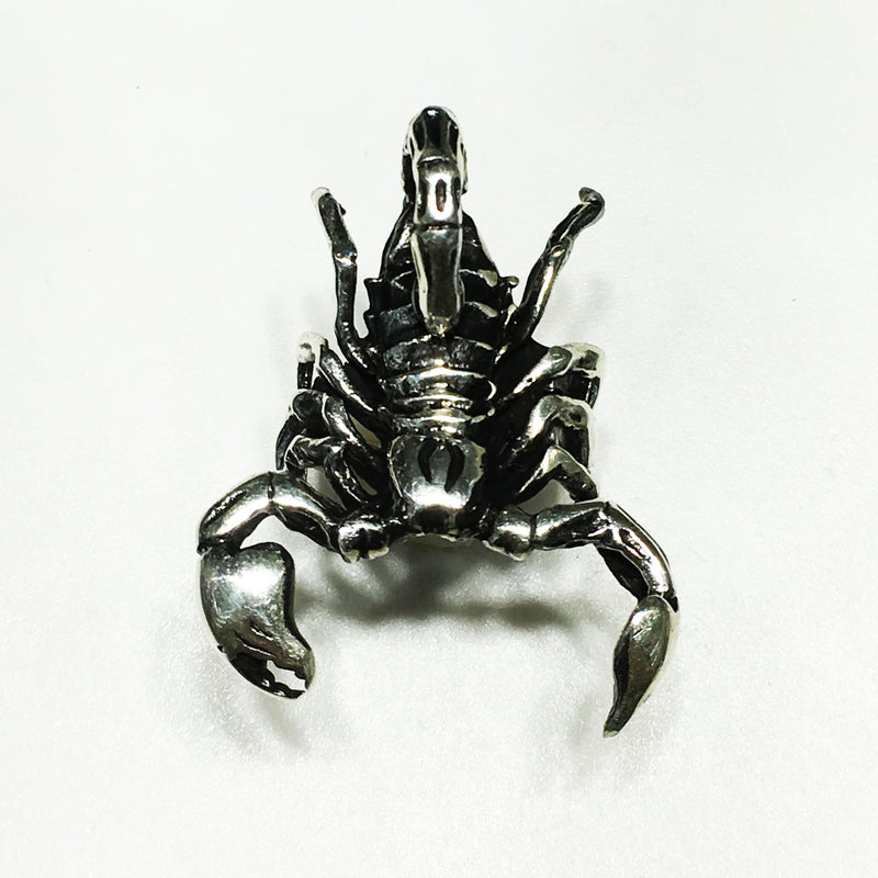 Antique-Finish Scorpion Ring (Silver) - Popular Jewelry