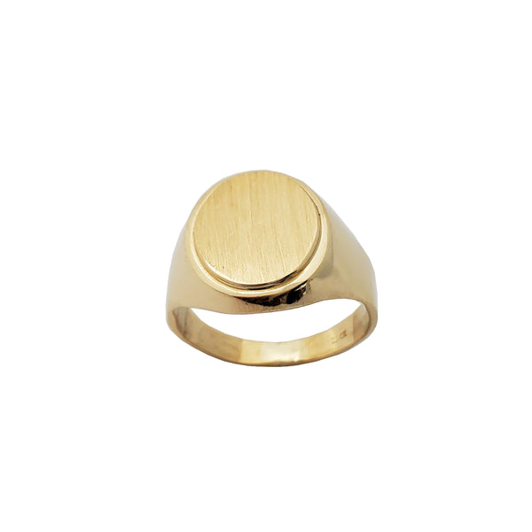 Oval Signet Ring (14K)