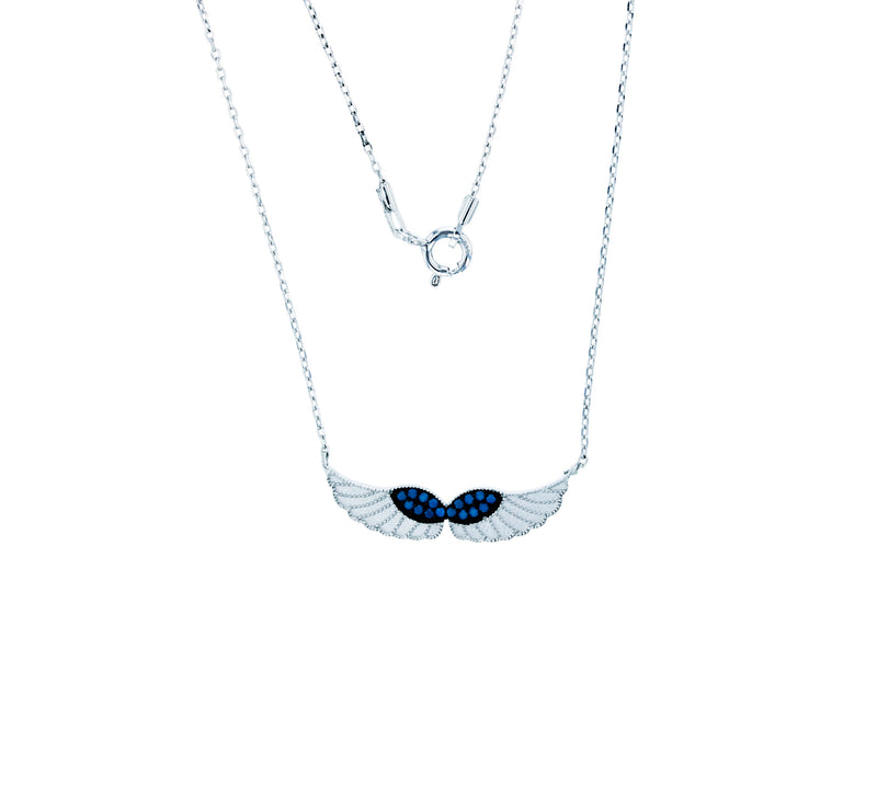 Angel Wing Necklace (Silver)