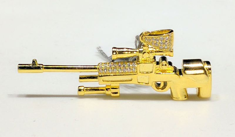 Sniper Rifle Pendant Silver AWP - Popular Jewelry
