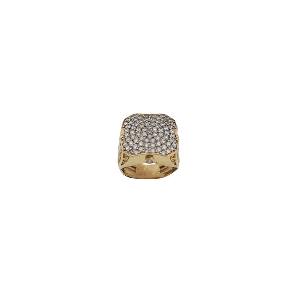 Square cz Man Ring (14K)