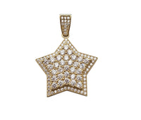 Iced-Out Star Pendant (10K)