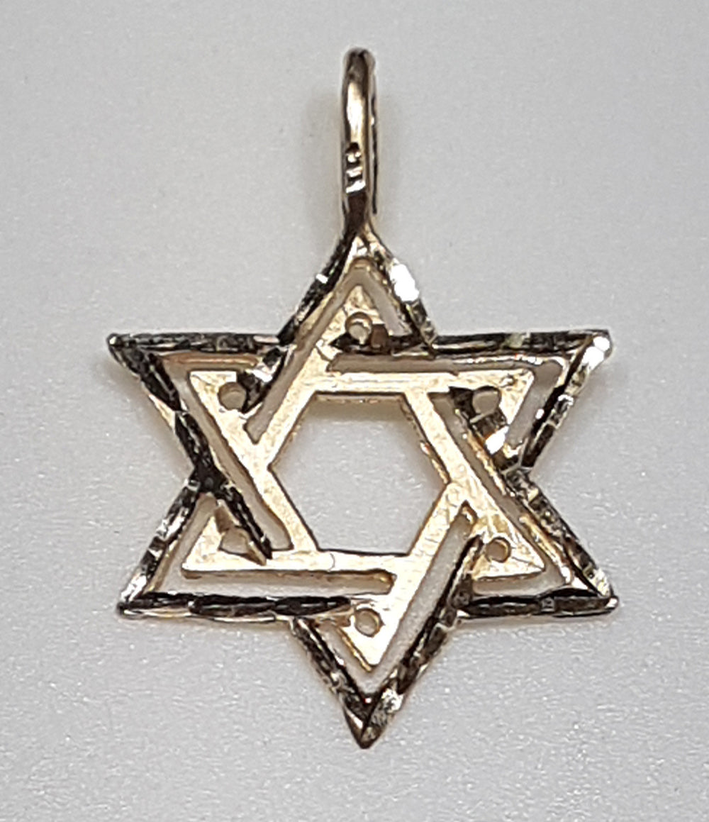 Star of David Pendant 14K - Popular Jewelry