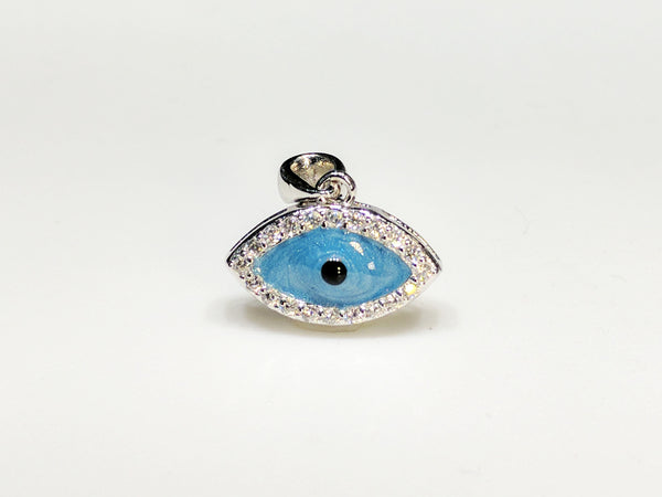 Evil Eye Mini Hengiskraut Silfur - Popular Jewelry
