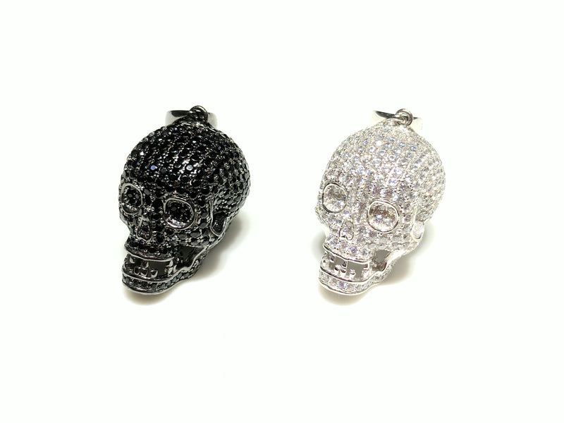 products/sterling_silver_925_skull_pendant_black_and_white_cubic_zirconia_micropave_iced_all_over_standing_alternate_angle_view_web_products_Popular_Jewelry_New_York_City.jpg