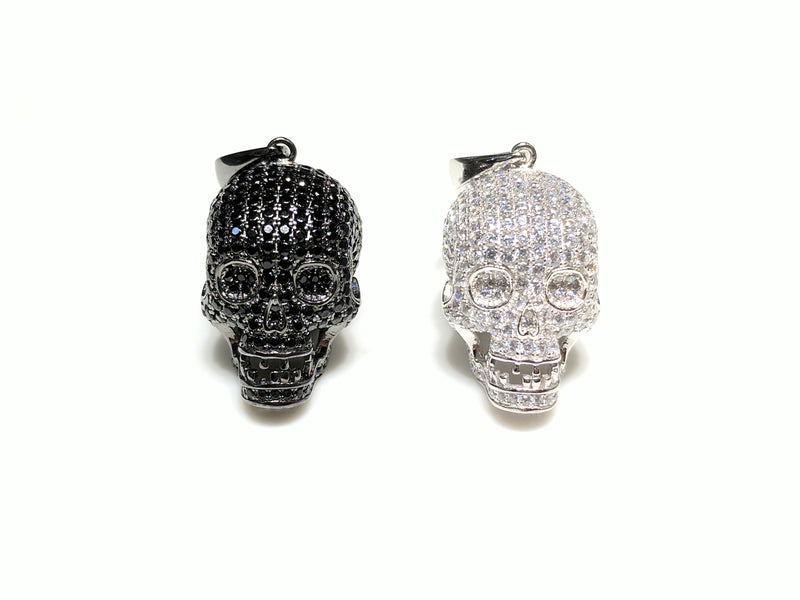 products/sterling_silver_925_skull_pendant_black_and_white_cubic_zirconia_micropave_iced_all_over_standing_front_face_view_web_products_Popular_Jewelry_New_York_City.jpg