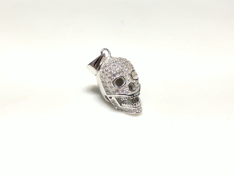 Iced Out Mini Skull Pendant