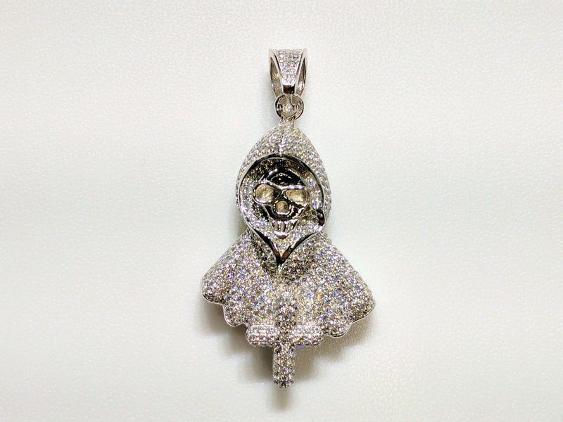 products/sterling_silver_925_white_hood_death_skeleton_iced_out_cubic_zirconia_micro_pave_setting_standing_front_view_web_product_Popular_Jewelry_New_York_City.jpg