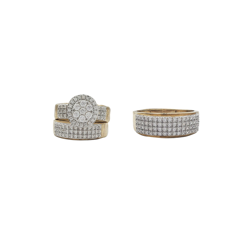 Circular Three-Piece-Set Ring (10K)