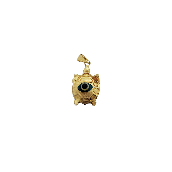 Evil Eye Turtle Pendant (14K)