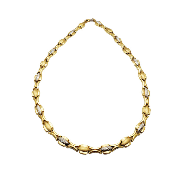 Two Tone Fancy Chain (14K)