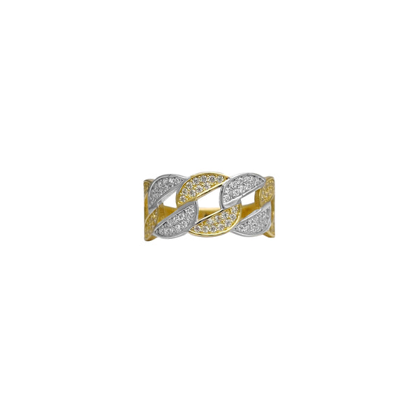 Two-Tone Cuban Link Ring (14K)
