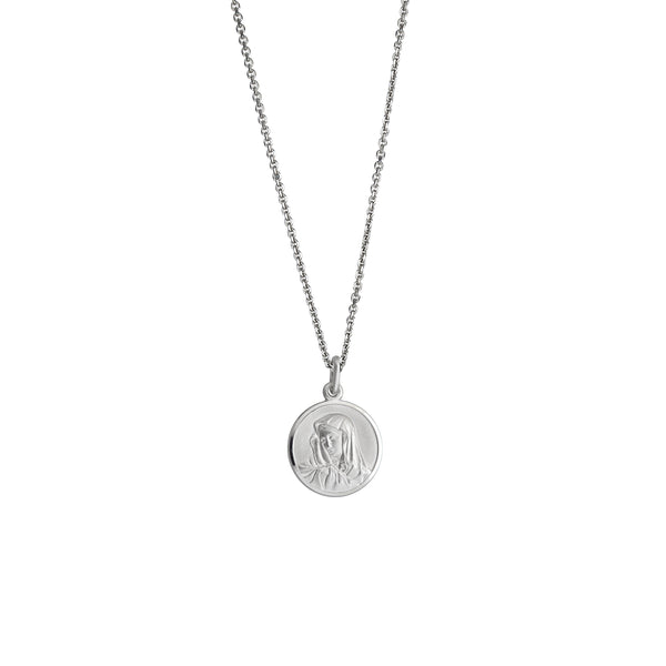 Virgin Mary Necklace (Silver)