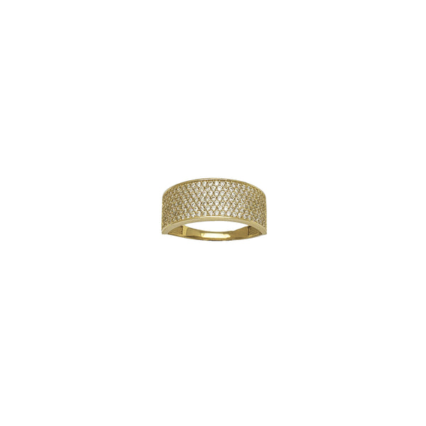 Pavé CZ Wide Semi Band (14K)