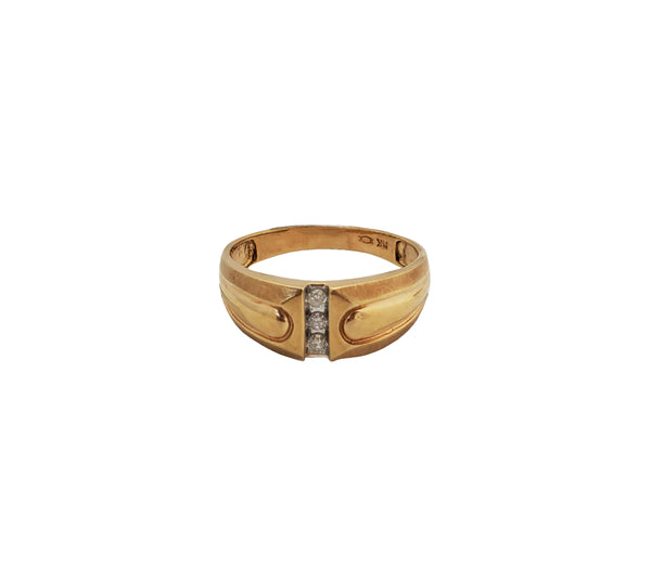 CZ Clutch Tapered Band (14K)