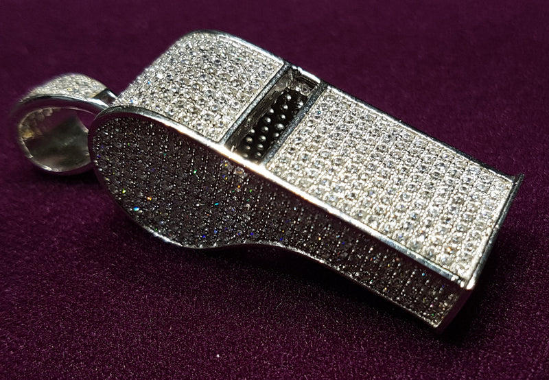 products/whistle_pendant_sterling_silver_icy_iced_cz_cubic_zirconia_zirconium_micropave_candid.jpg