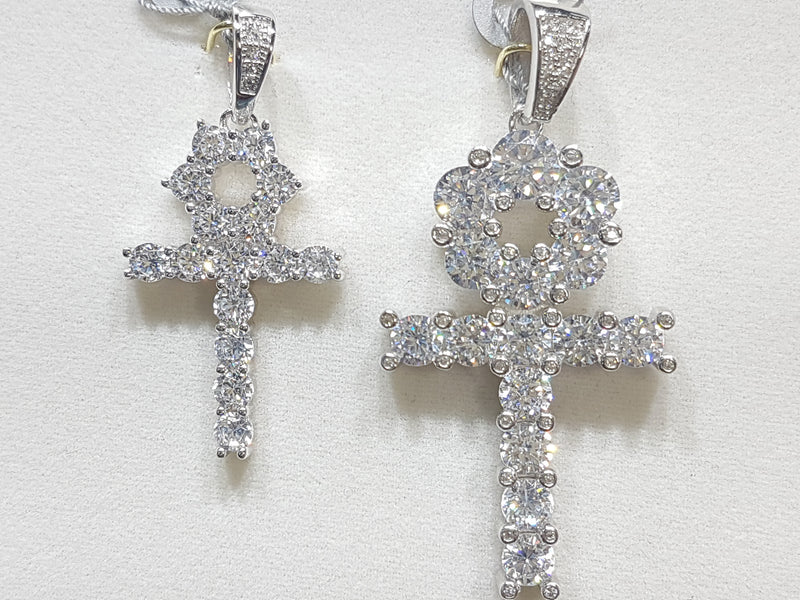 products/white_sterling_silver_cubic_zirconia_prong_setting_ankh_pendant_small_and_large_comparison_direct_view.jpg