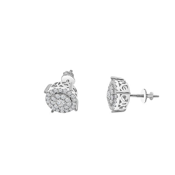 Diamond Cluster Stud Earring (14K)