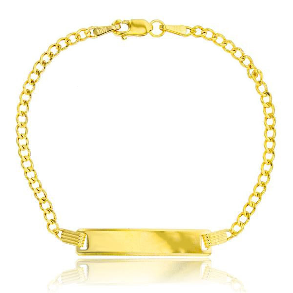 Hollow Baby Cuban ID Bracelet (14K)