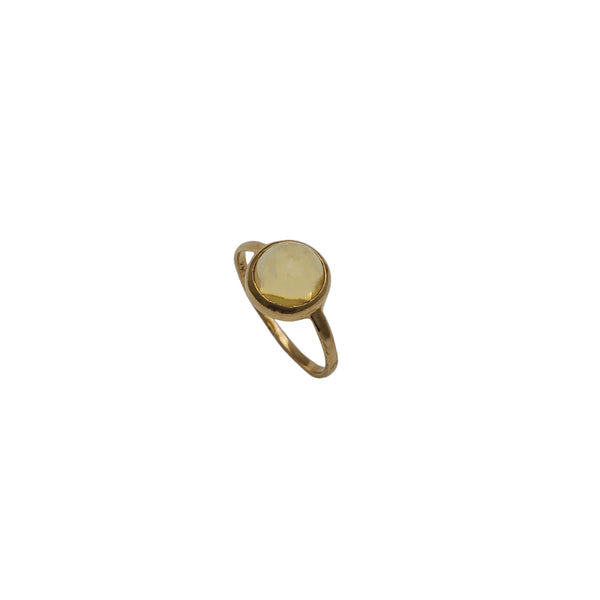 Yellow Topaz Ring (14K)