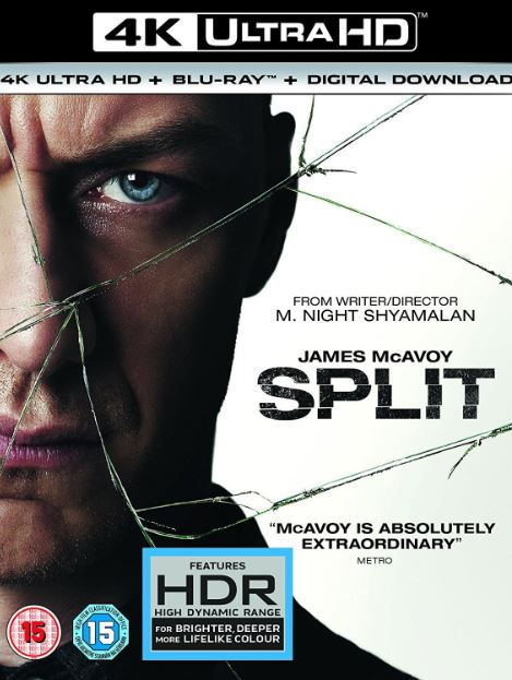 SPLIT 4K UHD 4K iTunes DIGITAL COPY MOVIE CODE ONLY (DIRECT INTO ITUNES)  USA CANADA