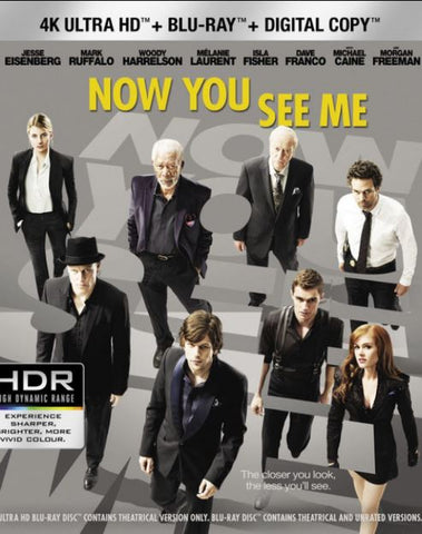 NOW YOU SEE ME 4K UHD 4K iTunes DIGITAL COPY MOVIE CODE