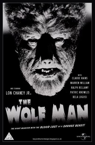 THE WOLF MAN 1941 HDX UV ULTRAVIOLET DIGITAL MOVIE CODE