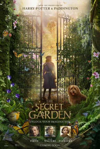 SECRET GARDEN (THE) HD iTunes DIGITAL COPY MOVIE CODE (DIRECT INTO CANADIAN iTunes) CANADA