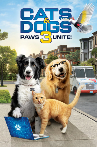 CATS & DOGS 3 PAWS UNITE HDX VUDU, HDX MOVIES ANYWHERE (USA) / HD GOOGLE PLAY (CANADA) DIGITAL COPY MOVIE CODE (READ DESCRIPTION FOR REDEMPTION SITE)