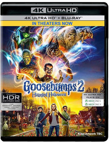 GOOSEBUMPS 2 4K UHD 4K SONY DIGITAL COPY MOVIE CODE