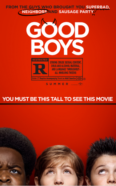 GOOD BOYS HDX MOVIES ANYWHERE DIGITAL COPY MOVIE CODE (READ DESCRIPTION FOR REDEMPTION SITE) USA