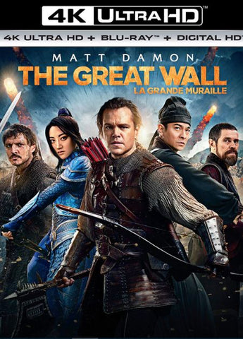 THE GREAT WALL 4K UHD 4K iTunes DIGITAL COPY MOVIE CODE