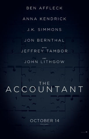 THE ACCOUNTANT SD UV ULTRAVIOLET DIGITAL MOVIE CODE