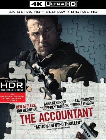 THE ACCOUNTANT UHD 4K UV ULTRAVIOLET DIGITAL MOVIE CODE