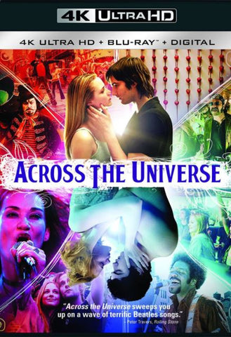 ACROSS THE UNIVERSE UHD 4K UV ULTRAVIOLET DIGITAL MOVIE CODE