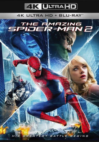 THE AMAZING SPIDER-MAN 2 UHD 4K UV ULTRAVIOLET DIGITAL MOVIE CODE