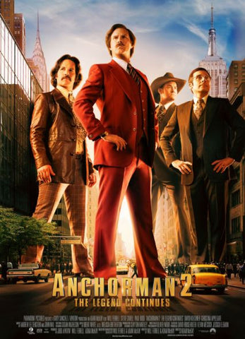 ANCHORMAN 2 THE LEGEND CONTINUES HDX UV ULTRAVIOLET DIGITAL MOVIE CODE