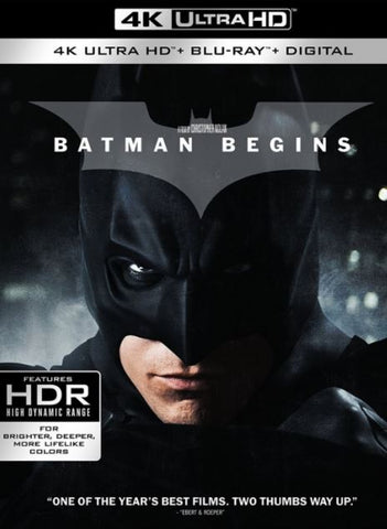 BATMAN BEGINS UHD 4K UV ULTRAVIOLET DIGITAL MOVIE CODE