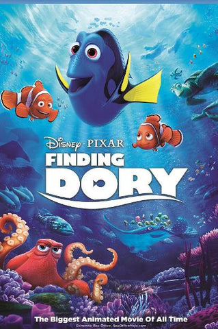 FINDING DORY DISNEY HD iTunes DIGITAL COPY MOVIE CODE w 150 DMR (READ DESCRIPTION FOR REDEMPTION SITE/STEP/INFO) USA CANADA