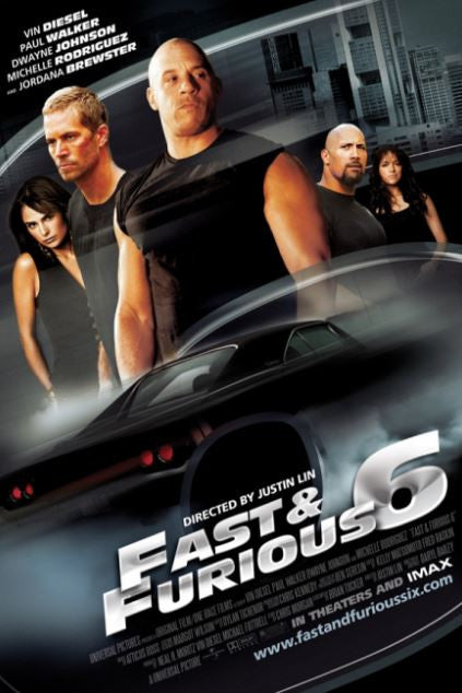 FAST & FURIOUS 6 EXTENDED VERSION HDX VUDU (USA) GOOGLE PLAY (CANADA)  DIGITAL MOVIE CODE ONLY (READ THE DESCRIPTION FOR REDEMPTION SITE)