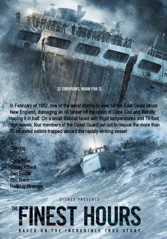 DISNEY THE FINEST HOURS HD DMA DISNEY MOVIES ANYWHERE HD DC DIGITAL COPY MOVIE CODE