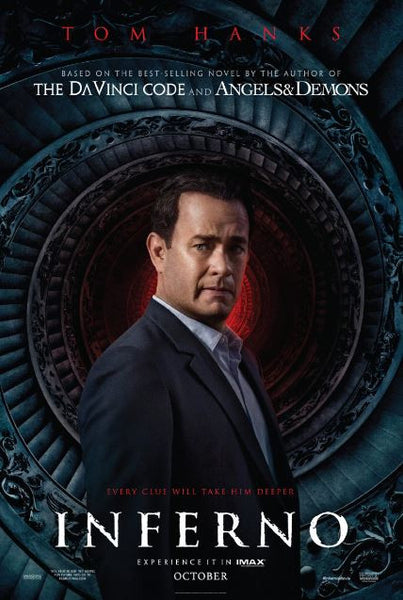 INFERNO (HANKS) HDX UV ULTRAVIOLET DIGITAL MOVIE CODE