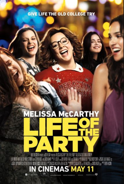 LIFE OF THE PARTY HDX UV ULTRAVIOLET DIGITAL MOVIE CODE
