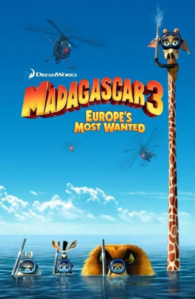 MADAGASCAR 3 EUROPE'S MOST WANTED HDX UV ULTRAVIOLET DIGITAL MOVIE CODE