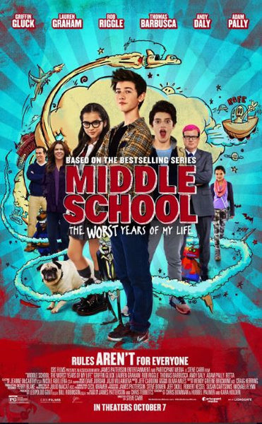 MIDDLE SCHOOL THE WORST YEARS OF MY LIFE HD iTunes DIGITAL COPY MOVIE CODE